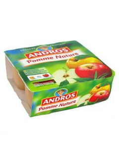 Compote Pomme nature, 4x100g