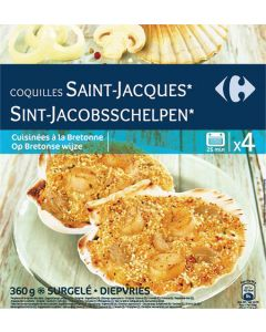 Coquille St Jacques, 4X90G, 360G.