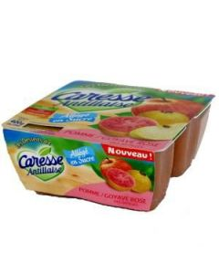 Compotes, Pommes Goyaves, 4X100g.