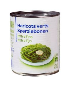Haricots Verts Extra Fins, 800 g.