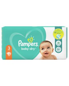 Couches baby dry, T3 X52 12H de protection