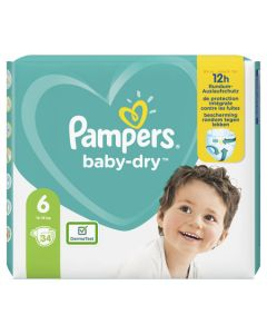 Couches baby dry, T6 X34 12H de protection