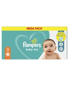 Couches baby dry, 12h T3 Méga pack X102